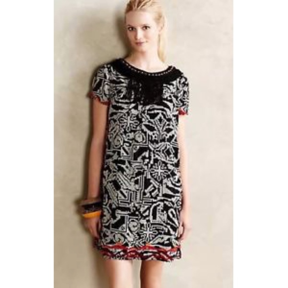 d249076c284ed Anthropologie Dresses | Floreat Xs Abelia Tribal Print Dress | Poshmark